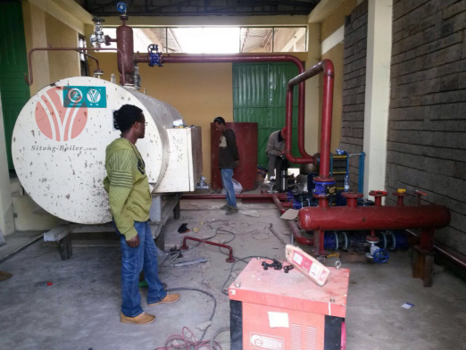 1t/h Electric Heating Boiler For Ethiopia University Kitchen